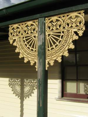 Lacework on studio at Sewjourn in Lancefield