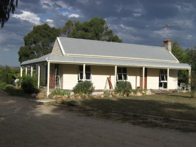 Front of Sewjourn in Lancefield almost painted