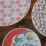 Fabric hoops decorate Sewjourn